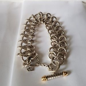 David Yurman Triple Row Chain Mail Bracelet